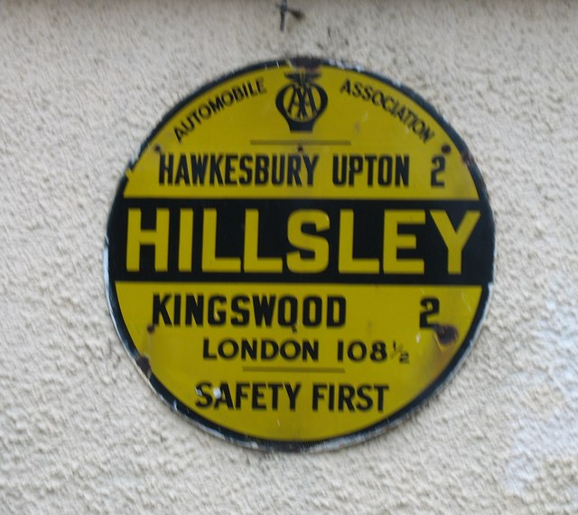 AA sign in Hillesley