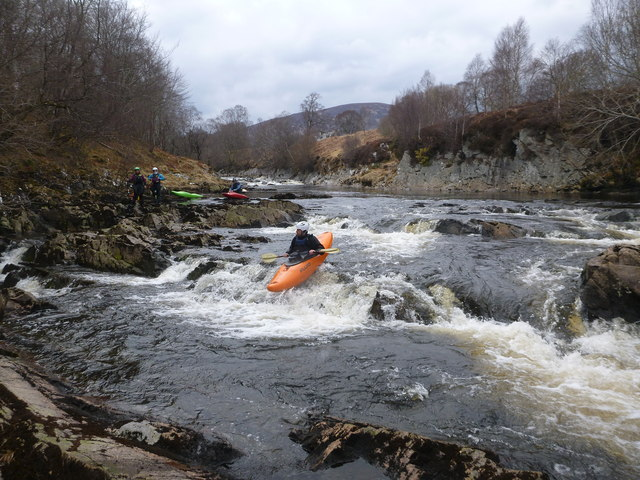 Rapid at Gruinards - take-out for the River Carron