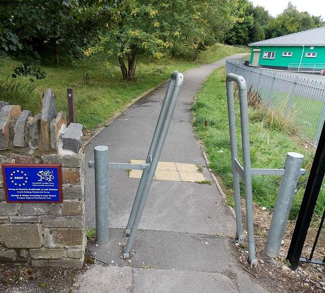 Northern entrance to Duffryn Park Blaina
