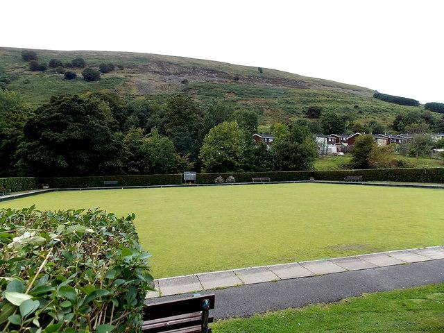 Bowling green in Duffryn Park, Blaina