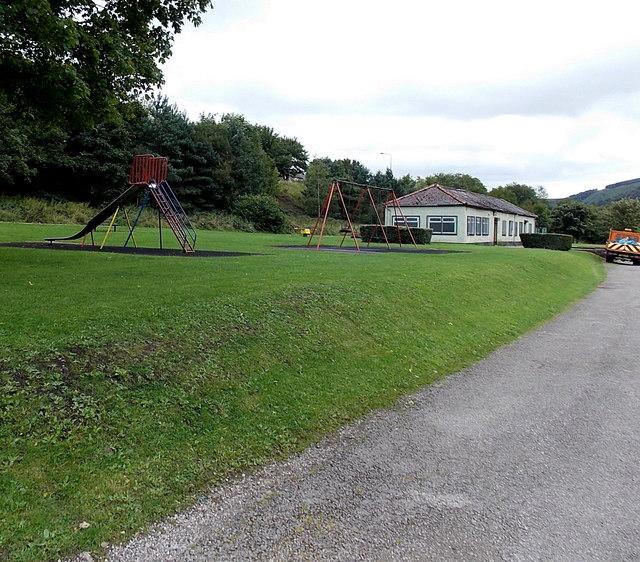 Children's play area in Duffryn Park Blaina