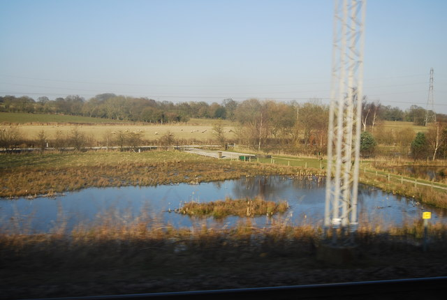 Fishing pond by the WCML