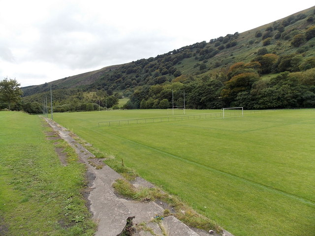 Sports pitches in Duffryn Park Blaina