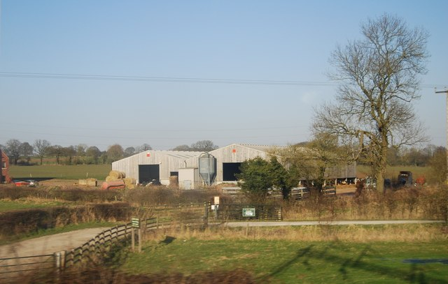 Farm buildings by the WCML