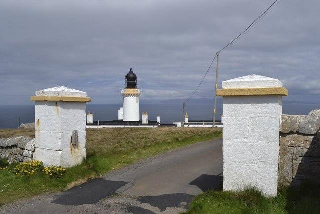 Dunnet Head Lighthouse and Gate Posts, Dunnet Head Peninsula, Caithness