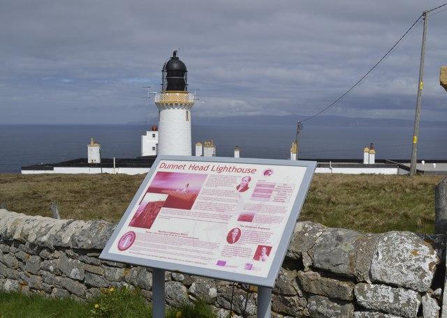Dunnet Head Information Board, Lighthouse and Fog Horn, Dunnet Head Peninsula, Caithness