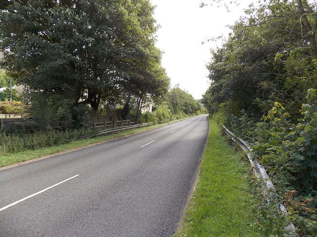 A467 in a former railway route in the south of Blaina