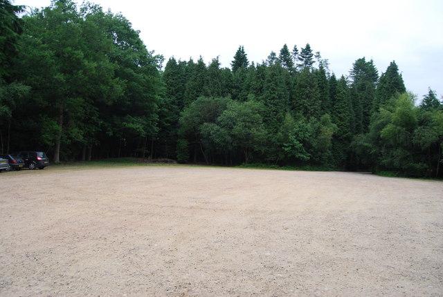 Car park at Weir Wood Reservoir