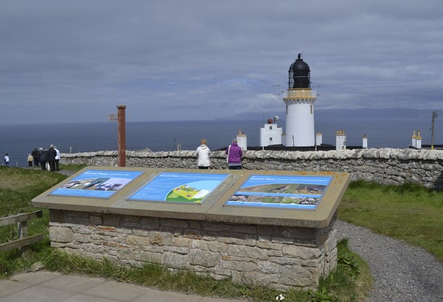 RSPB Dunnet Head Information Boards (and Lighthouse), Dunnet Head Peninsula, Caithness