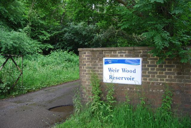 Entrance to Weir Wood Reservoir