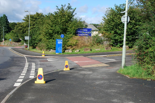 Entrance to Stowford school and Community College Ivybridge