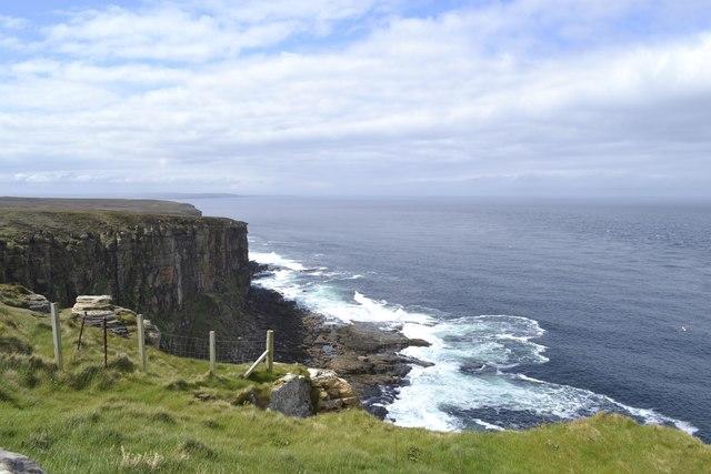 View along the coast at Dunnet Head, Dunnet Head Peninsula, Caithness