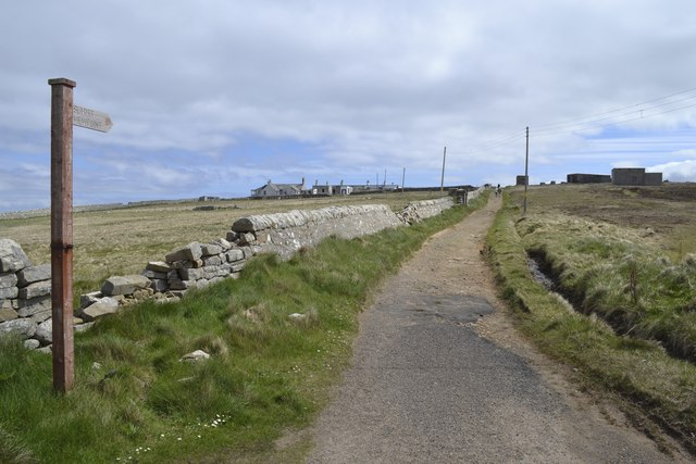 Summit View Signpost and Path, Dunnet Head, Dunnet Head Peninsula, Caithness