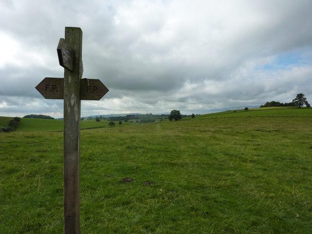 Ordinary footpath meets Pennine Way