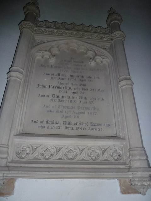 St Augustine of Canterbury, Upton Lovell: memorial (a)