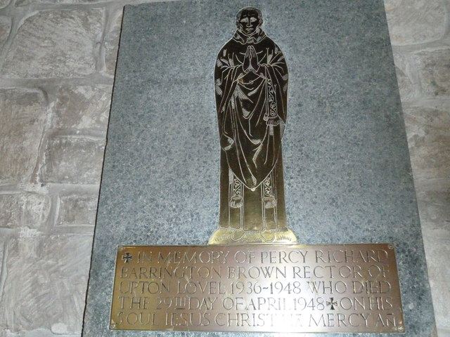 St Augustine of Canterbury, Upton Lovell: memorial (c)
