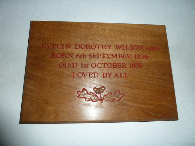 St Augustine of Canterbury, Upton Lovell: memorial (d)