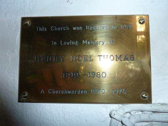 St Augustine of Canterbury, Upton Lovell: memorial (h)