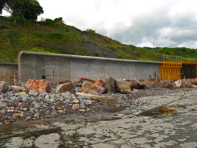 Lyme Regis new sea wall