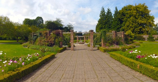 The middle of the walled garden