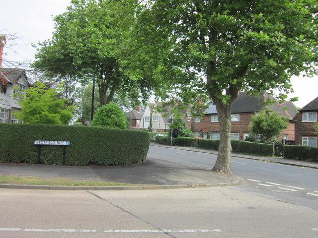 Barrow Lane from Westfield Rise, Hessle