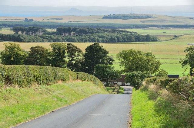 Minor road to Newburn Church