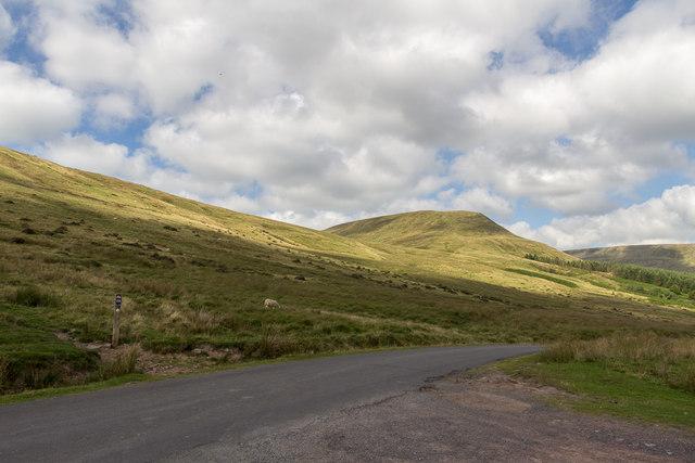 Parking Area near Blaen-y-Glyn, Brecon Beacons, Wales