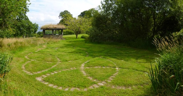 Celtic paving and folly