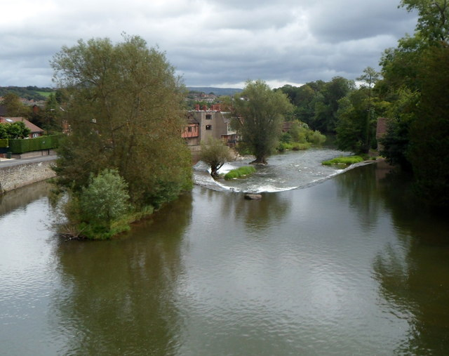 Horseshoe Weir in the River Teme, Ludlow