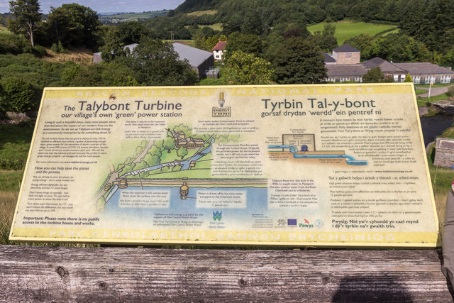 Information Board, Talybont Reservoir, Brecon Beacons, Wales