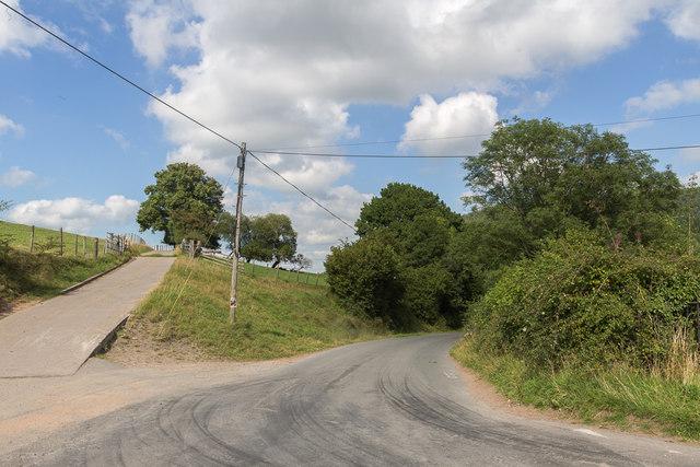 Road near Talybont Reservoir, Brecon Beacons, Wales