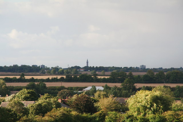 Grimsby Dock Tower from Tetney Church tower