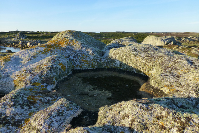 Rock-cut basin