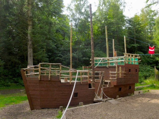 Play area (pirate ship) in Finlaystone Estate