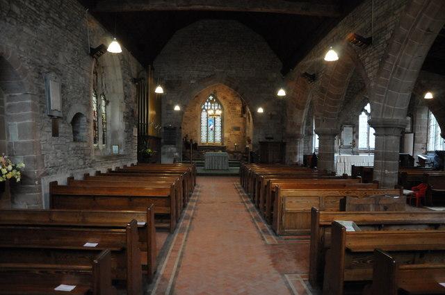 Interior of Severn Stoke church