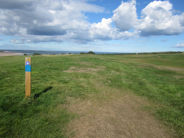 Footpath across the golf course, Bamburgh