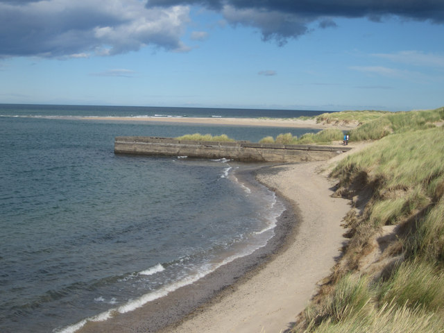 The beach at Budle Bay