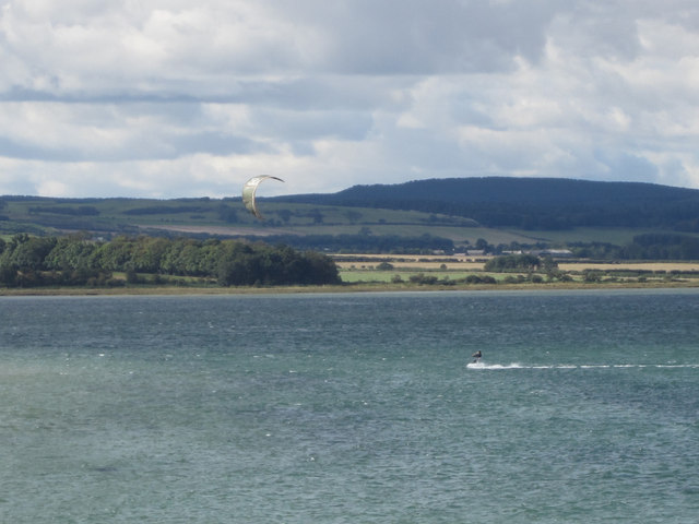 Kite surfer in Budle Bay