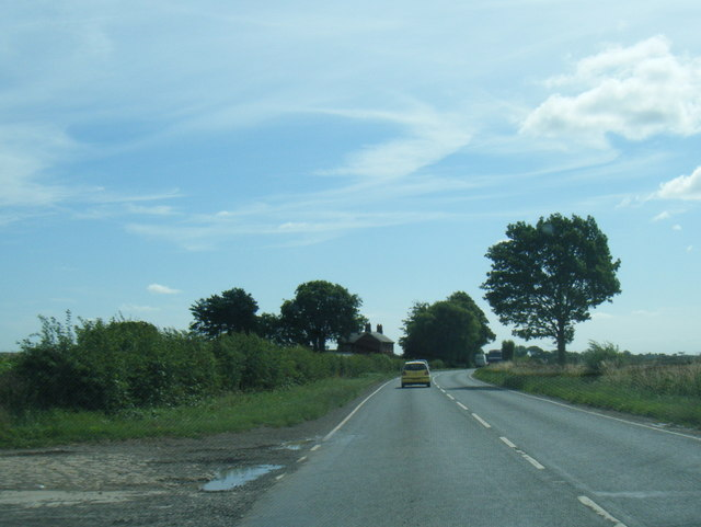 A158 eastbound nears Partney Farm