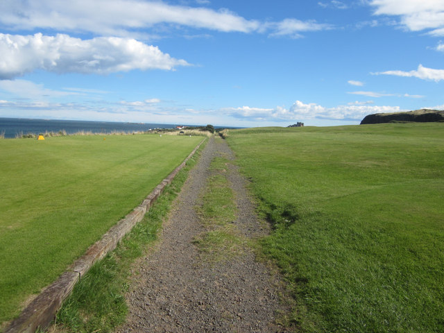 Footpath across the golf course
