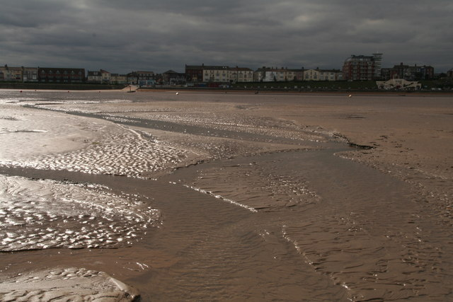 Low tide on Cleethorpes beach
