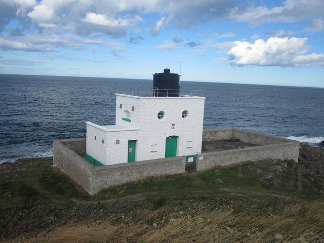 Lighthouse at Blackrocks Point, Bamburgh