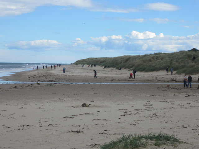People on the beach, Bamburgh