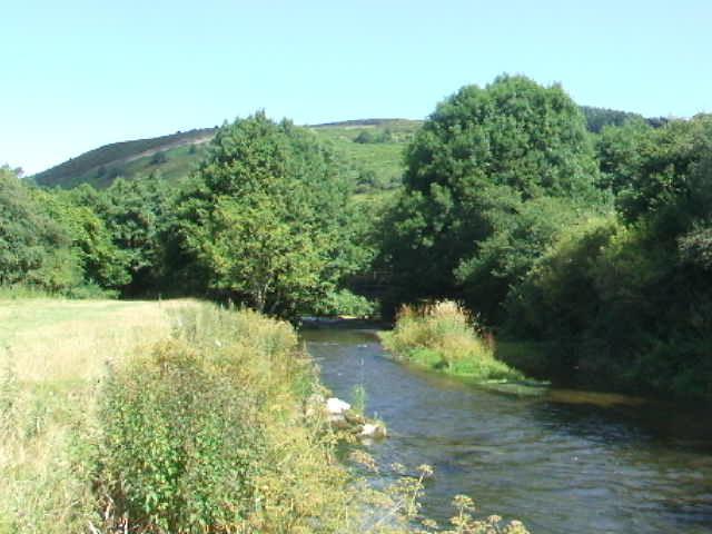 Offa's Dyke Path crosses the River Teme