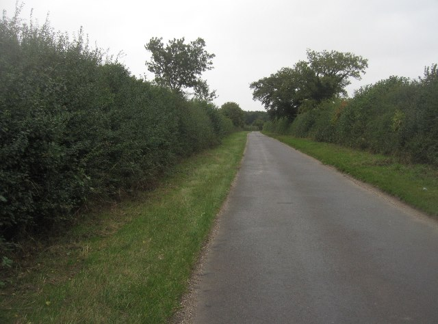 View along Summer Down Lane