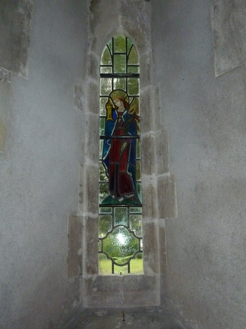 St Augustine of Canterbury, Upton Lovell: stained glass (1)