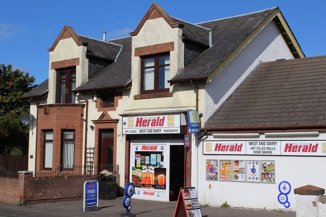 West End Dairy, Townfoot, Dreghorn