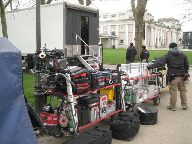 Film crew's equipment, Maritime Greenwich
