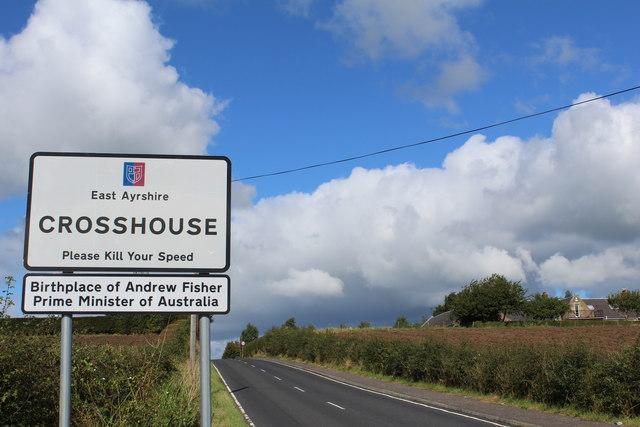 B751 approaching Crosshouse