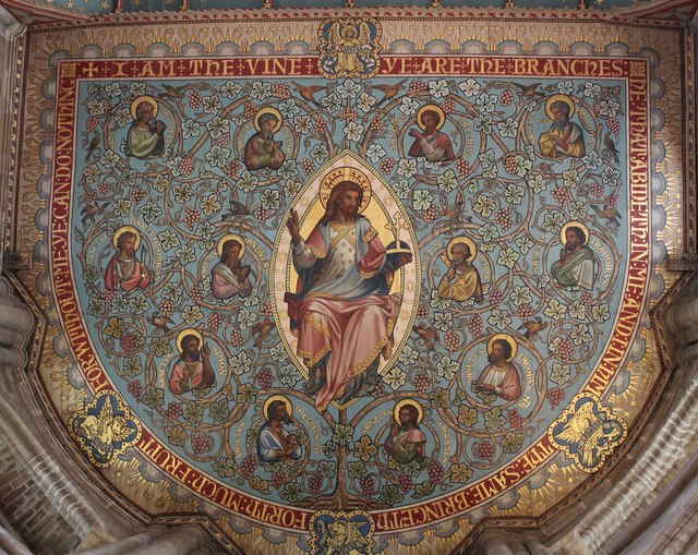 Painted ceiling, Peterborough Cathedral